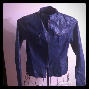 Arden B, Blue Leather Jacket